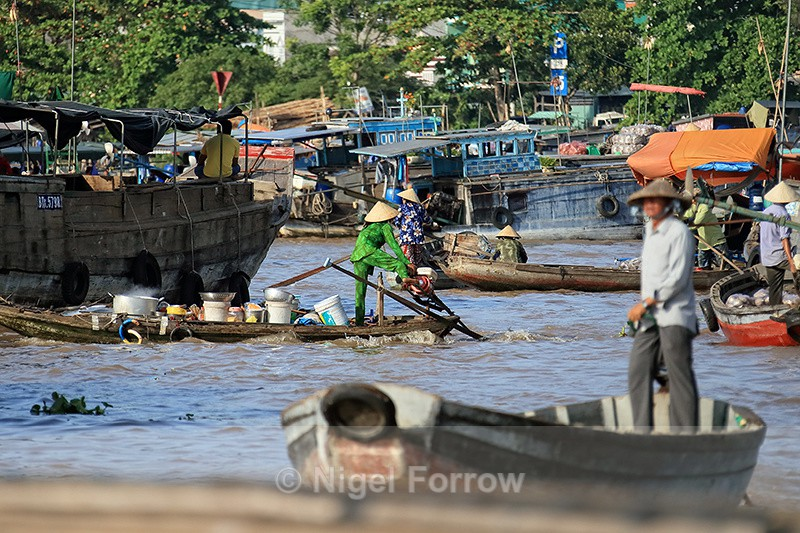 Cai Rang floating market, Can Tho, Mekong Delta, Vietnam - Vietnam