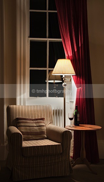 Chair and Wine. - Low Light Photography