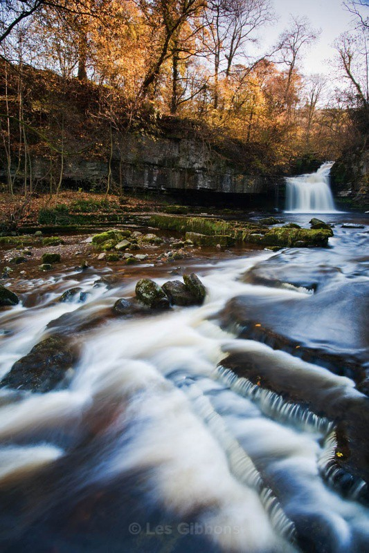 west burton falls - autumn - Yorkshire Dales