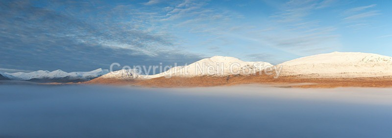 The Tulla & Etive Hills, Argyll & Bute - Panoramic format