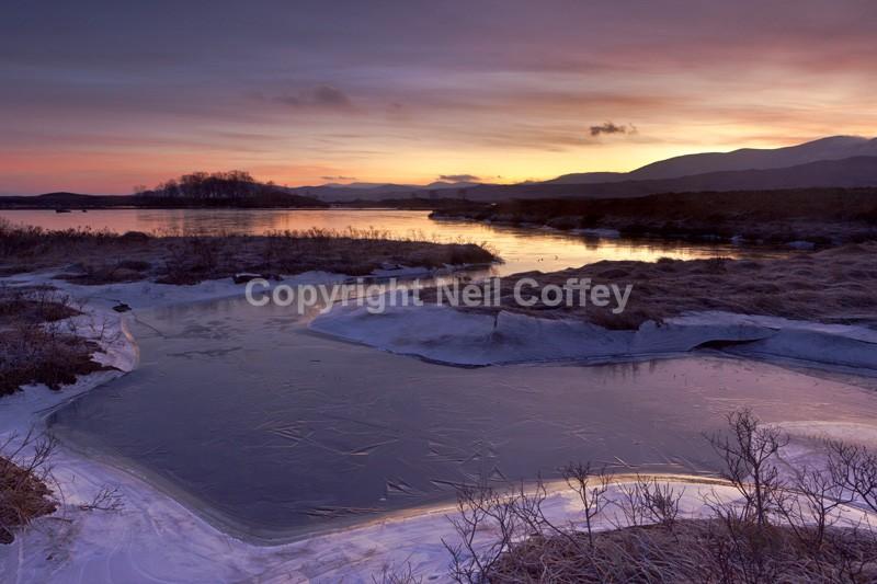 Loch Ba sunrise, Rannoch Moor, Highland - Landscape format