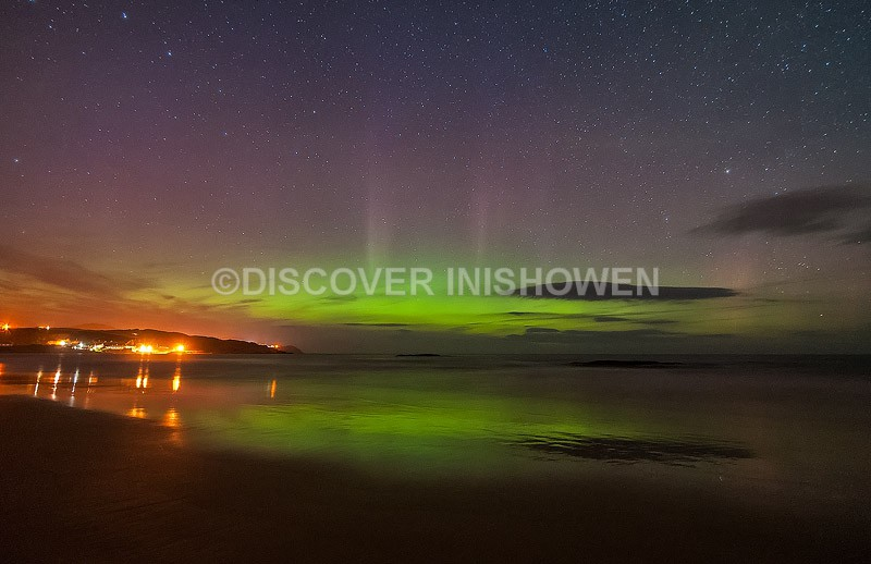 Culdaff beach - Aurora Borealis (Northern Lights)