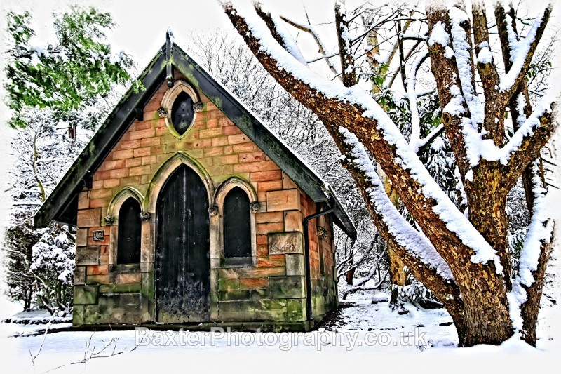 Gothic Magnesia Well In Winter - The Valley Gardens (Harrogate)