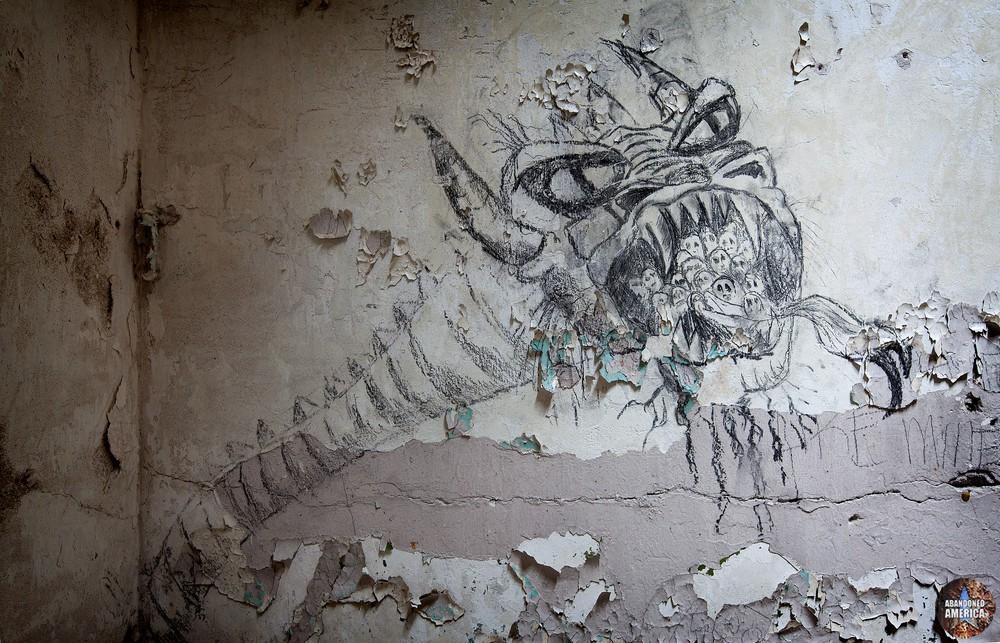 Prisoner graffiti, Holmesburg Prison, Philadelphia PA | Abandoned America by Matthew Christopher