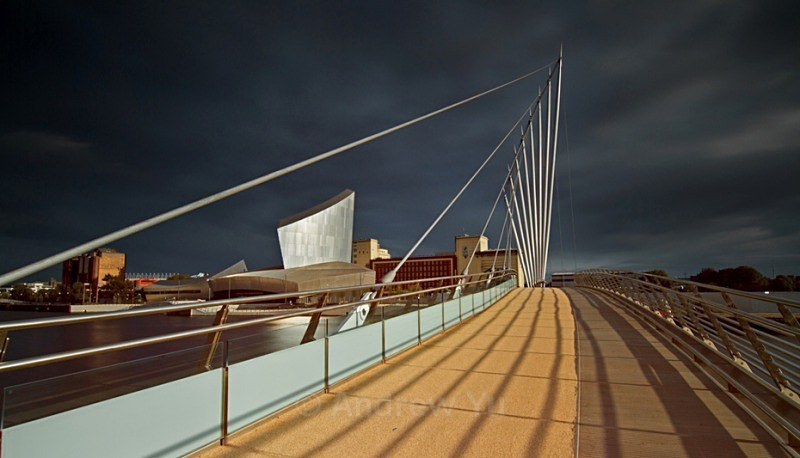 Storm Brewing over the Bridge - Urban Landscape Photography