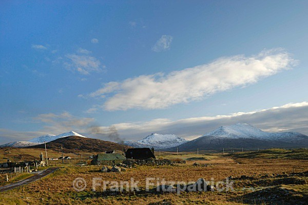 Township of Howmore, Island of South Uist in winter. - Island of South Uist in the Outer Hebrides