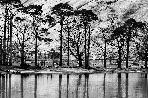 Reflections on Buttermere. - Monochrome Photograph's