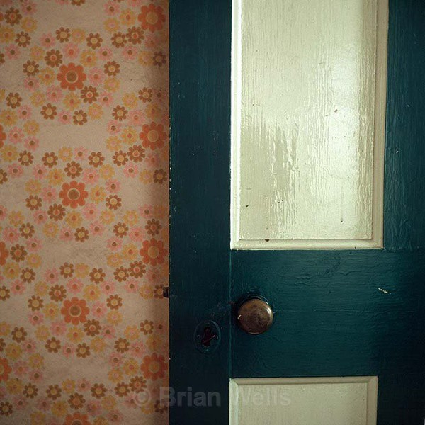 'Green Door' - Windows and Doors/ Curtains and Wallpaper