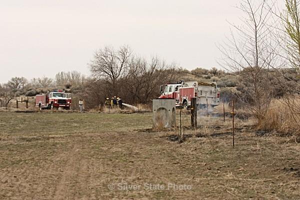 Mopping up fire - Fallon/Churchill Fire Department