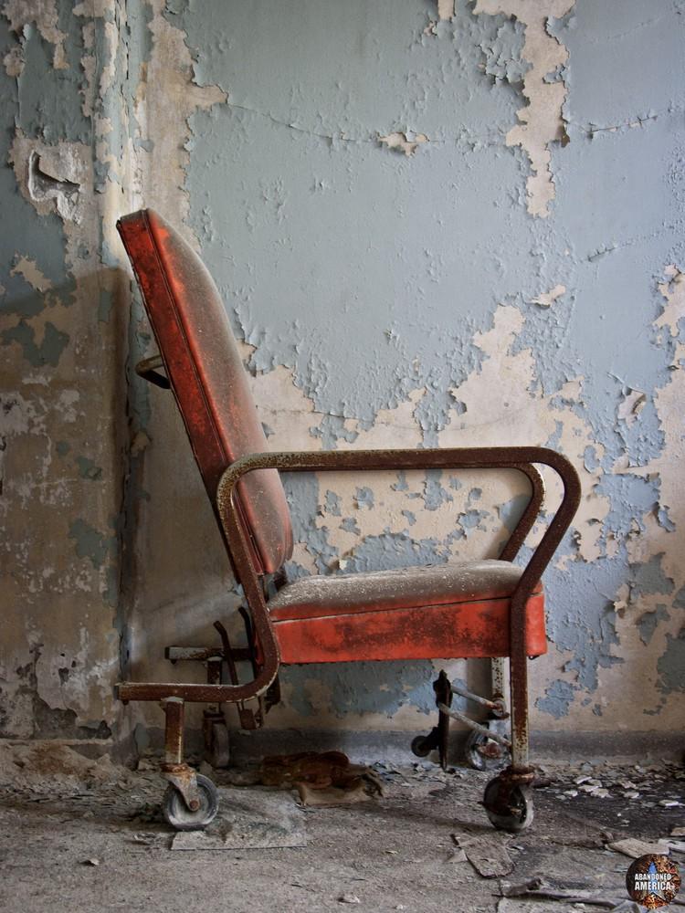 Orange Chair | Norwich State Hospital