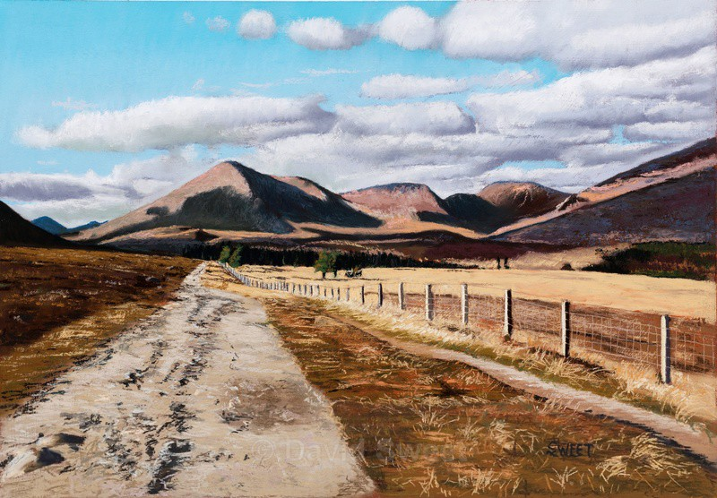 The Road to Slieve Lamagan - Paintings