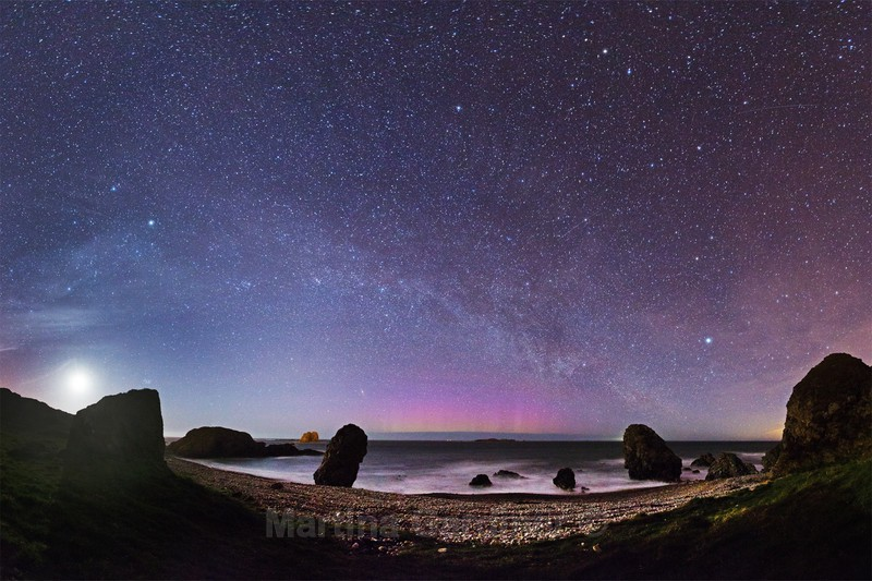 Malin Head Milky Way by Moonlight - Ireland by Night