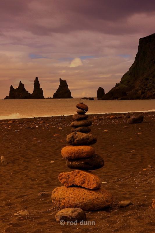 Reynisdranger cairn - Iceland