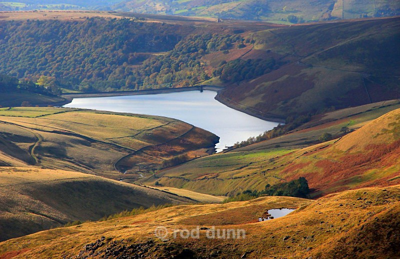 Kinder Reservoir from the Downfall - Peak District