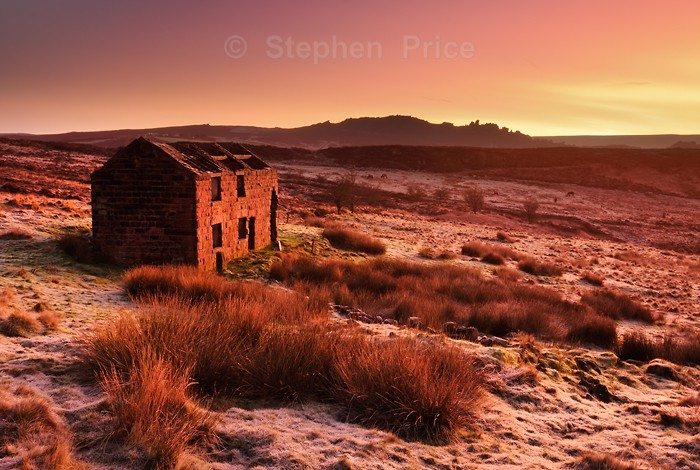 Abandoned Barn | Roaches Peak District Sunrise | Winter Sunrise