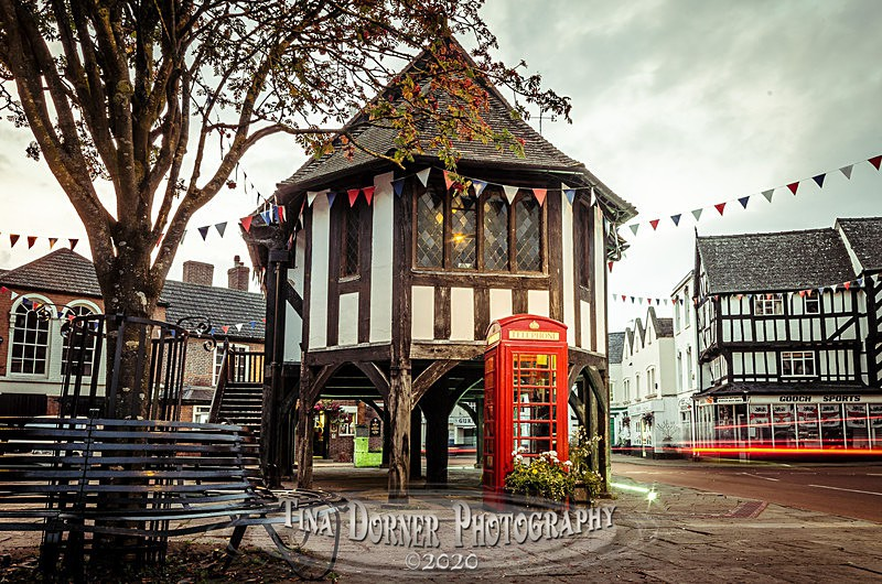 Phone Box at Newent Town Market House  by Tina Dorner Photography