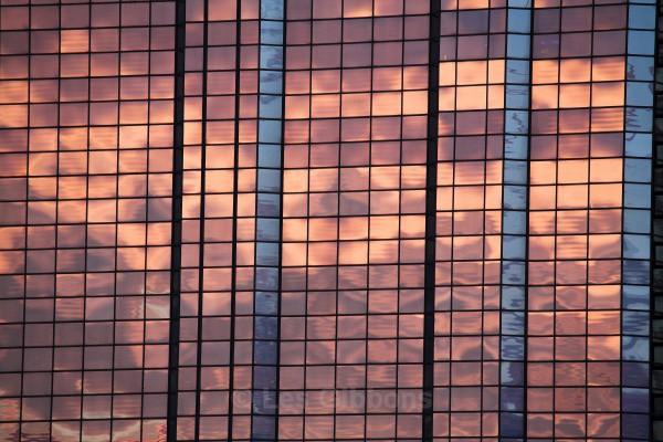 reflected sunset - Glasgow