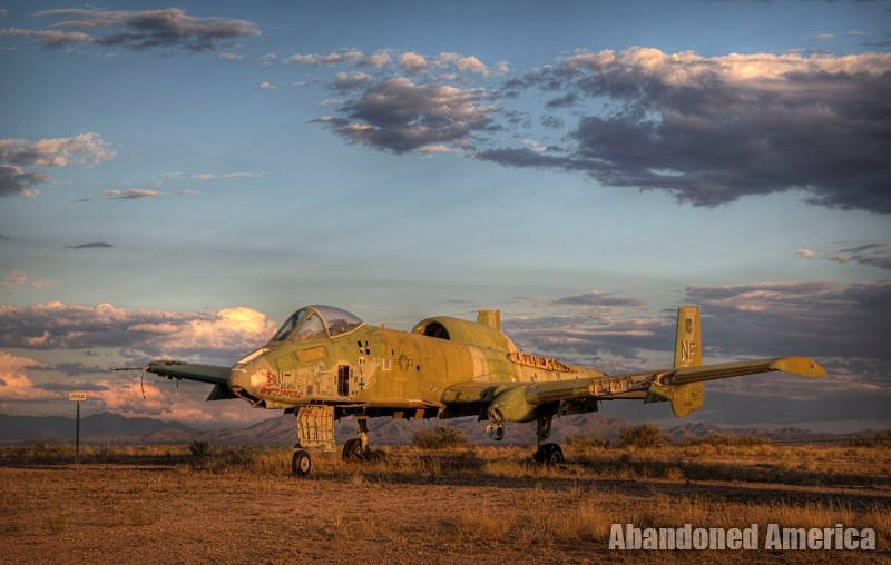 A-10 at AMARG Aerospace Reclamation and Maintenance Group, Tucson AZ - Matthew Christopher Murray's Abandoned America