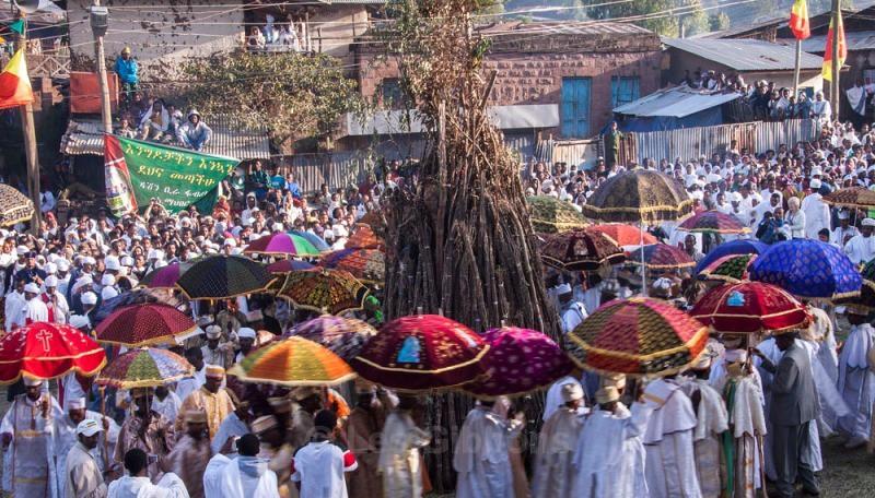 lalibela - meskel bonfire2 - Ethiopia