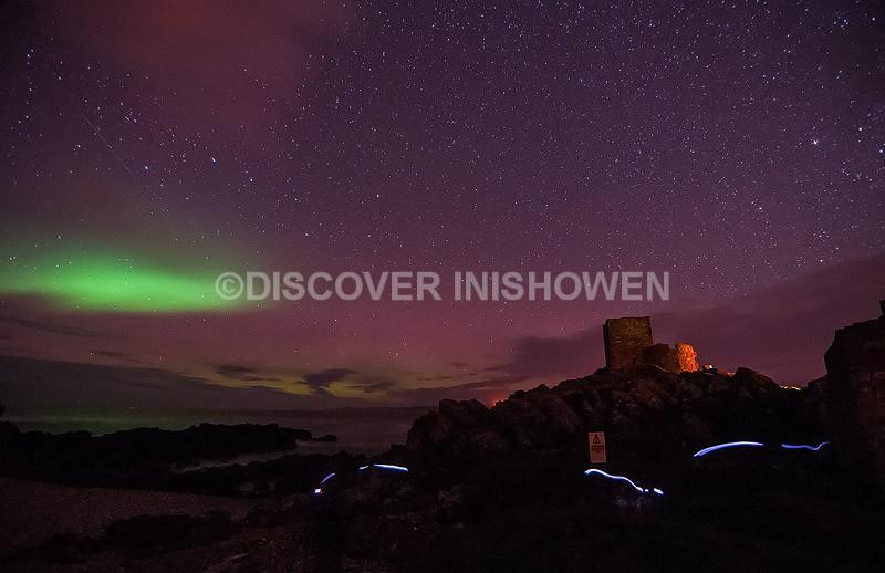 Carrickabraghy Castle - Aurora Borealis (Northern Lights)