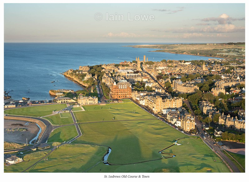 Aerial Old Course & Town - St Andrews Old Course Hole-by-Hole