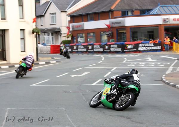 John McGuinness (Paton) following Olie Linsdell - Racing