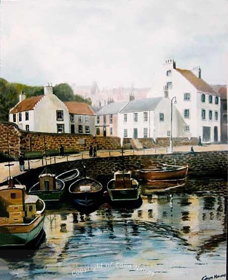 'Crail Harbour, Fife' - Landscapes