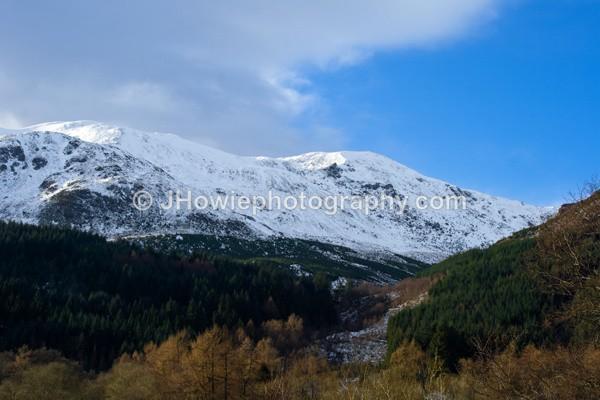 Snow Coverd Hills - Trossachs & Highlands