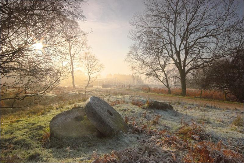 Millstones in the Mist - Peak District Winter