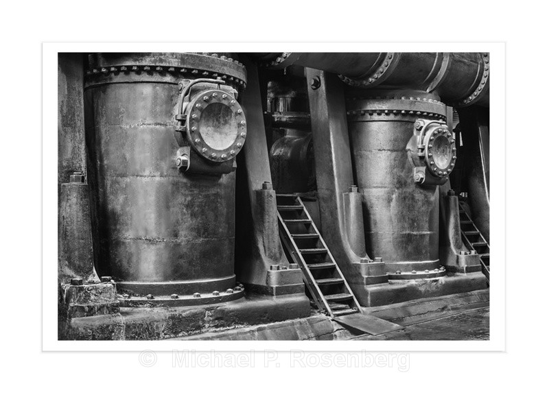 Water Pumps and Ladder, Ward Pumping Plant, Buffalo NY - Silo City and Ward Water Plant, Buffalo NY