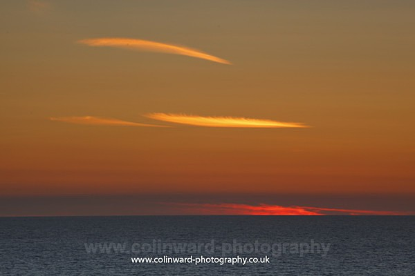 Cornish sunset.  ref 8744 - Cornwall
