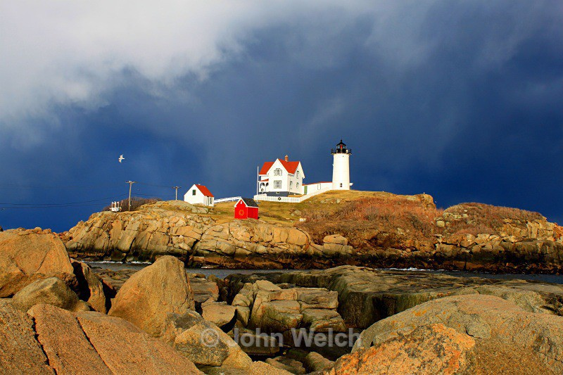 Storm over Nubble Lighthouse - Maine