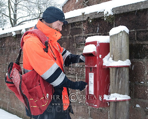 Emptying the Postbox - Location Portraits