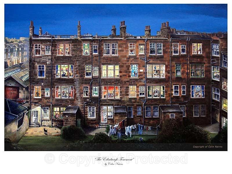 'The Edinburgh Tenement' - Edinburgh Paintings