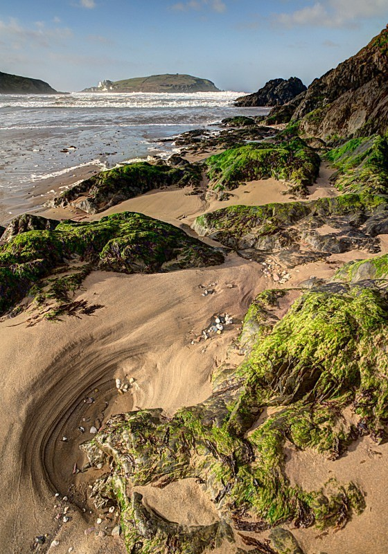 Challaborough Beach looking towards Burgh Island - Devon (Misc)
