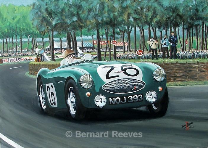 Austin Healey 100S  Lance Macklin Le Mans 1955 - Classic cars