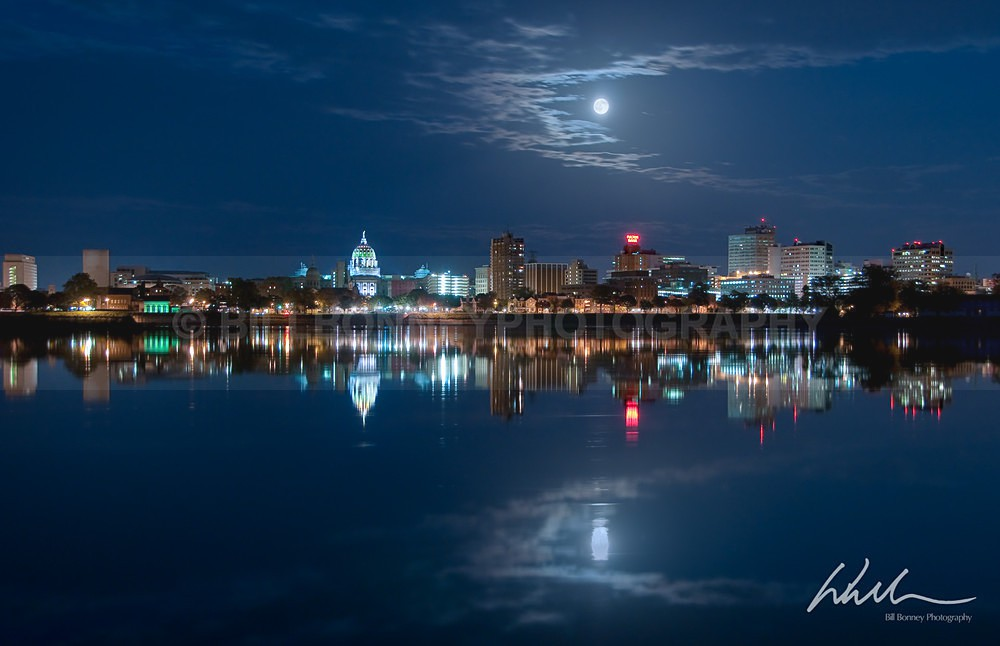 Full Moon over Harrisburg - Harrisburg Area, Pennsylvania