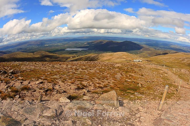 View from Cairn Gorm Mountain towards Loch Morlich - Scotland