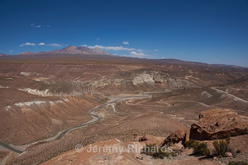 River Canyon on the Altiplano - Altiplano of North-East Chile
