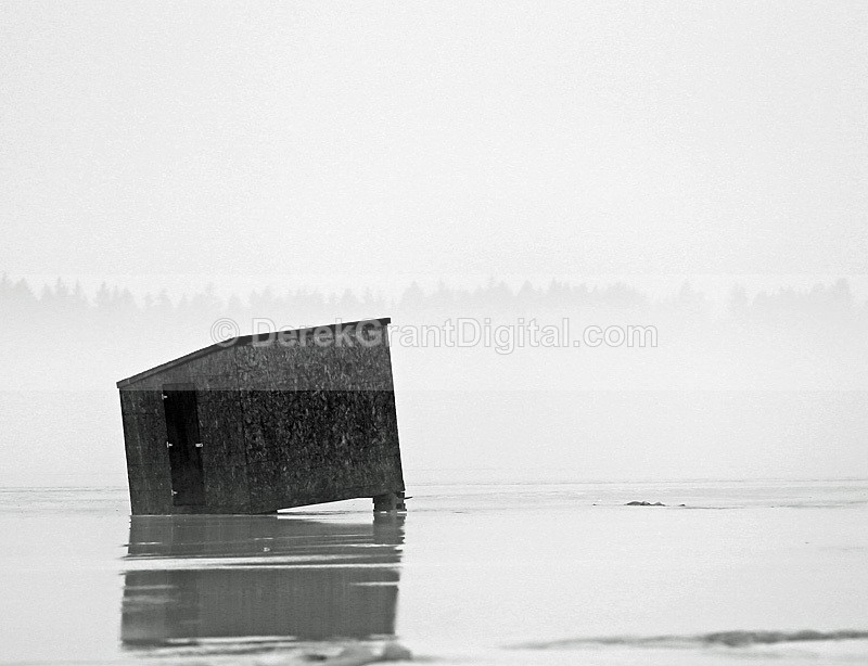 Ice Shack in the Fog - Rothesay New Brunswick Canada - Ice Shacks