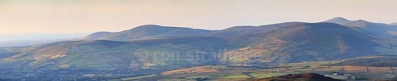 South Barrule looking North - Panorama of Man