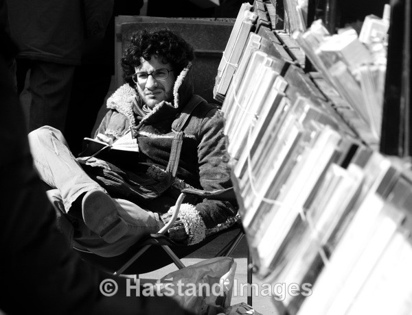 Book seller, Paris - people