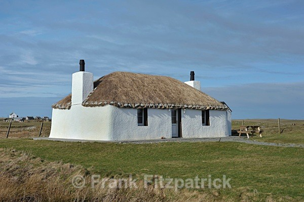 Crofters cottage, Howmore, South Uist. - Island of South Uist in the Outer Hebrides