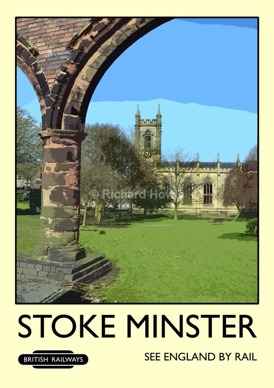 Stoke Minster - Railway Posters