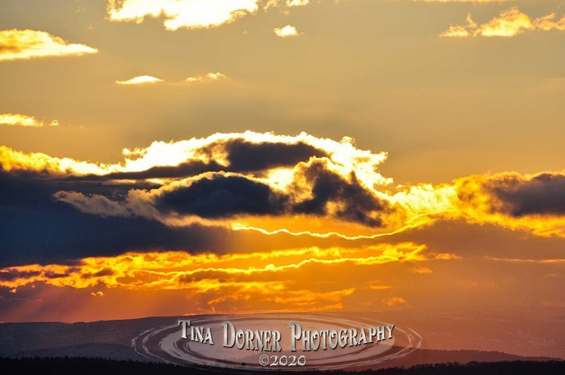 Golden sunset illuminates cloud from Autumn Forest of Dean and Wye Valley Portfolio by Tina Dorner Photography