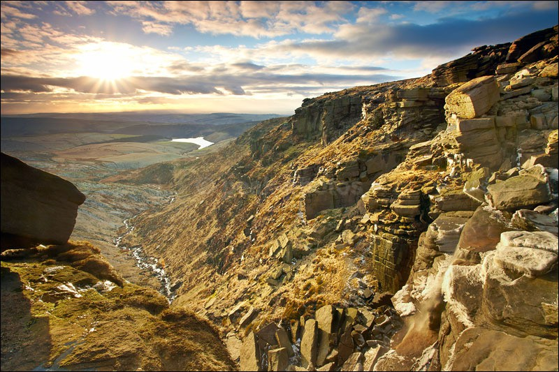 Kinder Downfall Sunset - Peak District | Dark Peak