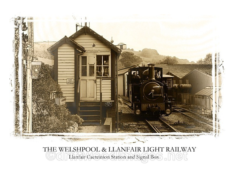 WLLR The Earl prepares to leave with the 1000 service from Llanfair - The Welshpool & Llanfair Light Railway
