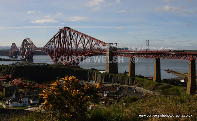 Scots Guardsman over North Queensferry - 17th April 2011 - Curtis Wels - Preserved Railways