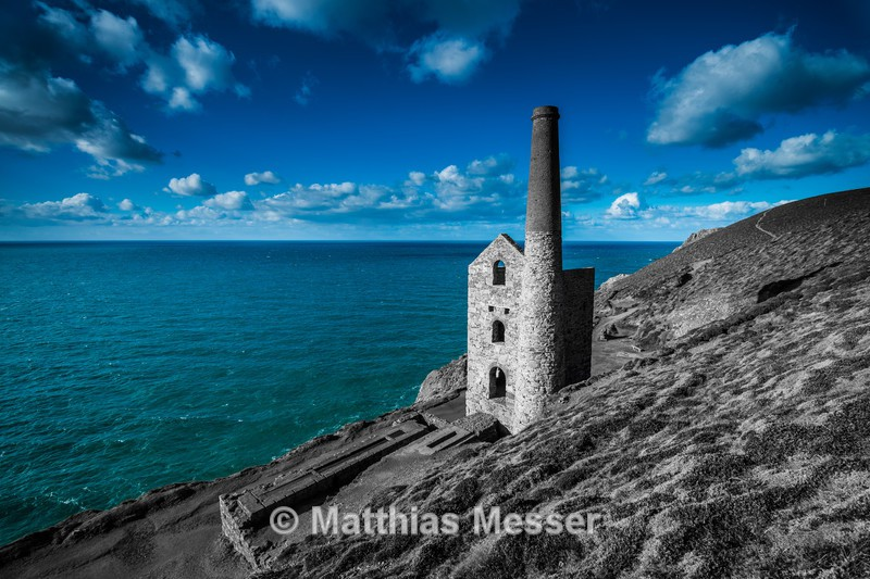 Wheal Coates Partial BW - Landscapes