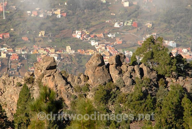 Tenerife rocks and village - Tenerife Mount Teidi